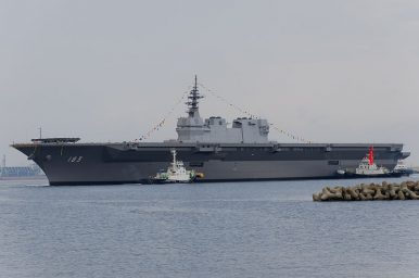 Japan's Izumo Helicopter Carrier to Escort US Navy Supply Ship