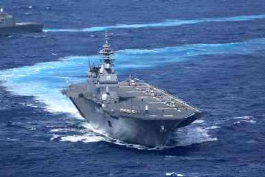 Japan Dispatches Biggest Warship to Protect US Navy Vessel, Putting New Security Law to Work
