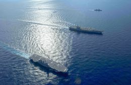 South China Sea: Japan's <em>Izumo</em> Helicopter Carrier Conducts Drill With US Navy Carrier