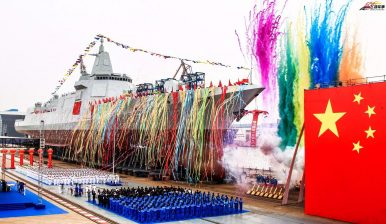 China Launches Next-Generation Guided-Missile Destroyer