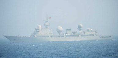 Chinese Navy Type 815 Intelligence Ship Transits Tsugaru Strait in Northern Japan