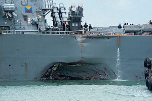 USS John S. McCain Collides With Merchant Vessel Near Singapore, 10 Sailors Missing