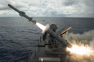 US Navy Littoral Combat Ship Fires Harpoon Missile Near Guam