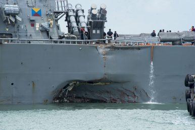 USS John S. McCain Collides With Merchant Vessel Near Singapore, 10 Sailors Missing