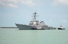 USS <i>John S. McCain</i>  Returning to Japan to be Repaired