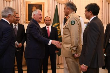 Tillerson to Follow Ghani to India, After a Brief Stop in Pakistan