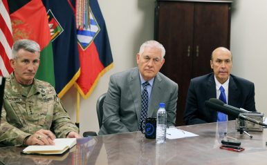 Tillerson Discusses Security and Strategy in Afghanistan on Short Stopover