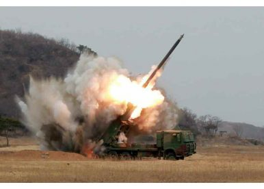 South Korea's Joint Chiefs Want to Intercept North Korean Rocket Artillery Volleys