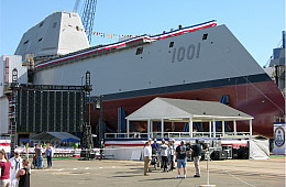 US Navy's New Stealth Destroyer Fitted With New 15-Ton Turbine Engine