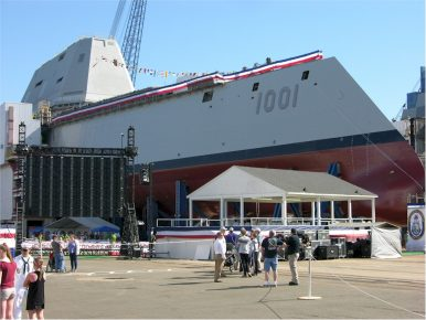 US Navy's 2nd Zumwalt-Class Guided-Missile Destroyer Suffers Damage During Sea Trials