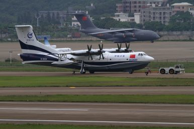 China-Built World's Largest Amphibious Aircraft to Commence Trial Flights on Water