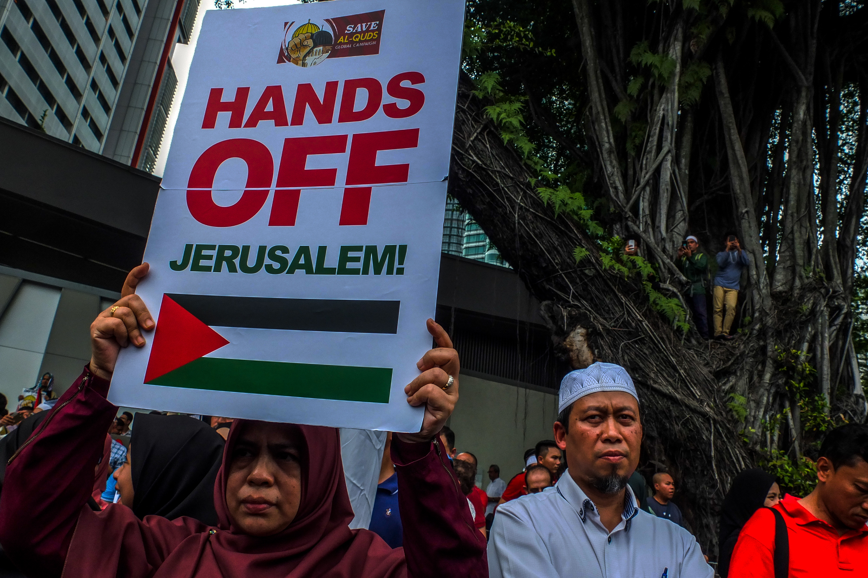 After Trump's Jerusalem Announcement, Malaysians March on US Embassy
