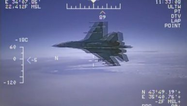 Russian Jet Buzzes US Surveillance Plane over Black Sea
