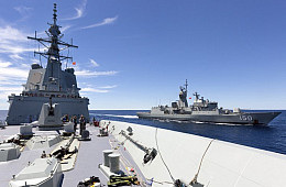 Australia's Deadliest Warship Completes 1st Ever Replenishment at Sea