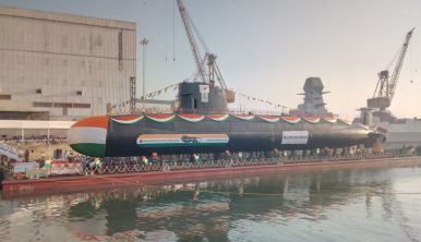 India Launches 3rd Kalvari -Class Attack Submarine
