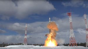 Russia's Strategic Rocket Force Tests Ejection of Deadly Sarmat Intercontinental Ballistic Missile