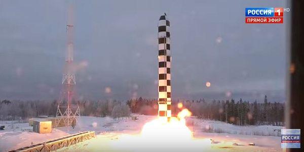 RS-28 Sarmat ICBM trial