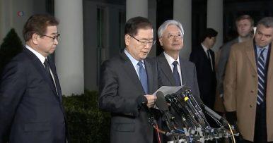 South Korean Envoy: Trump Accepts North Korea's Invitation to Meet Kim Jong-un