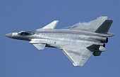 China's J-20 Fighter Undergoes First Over-the-Sea Combat Training
