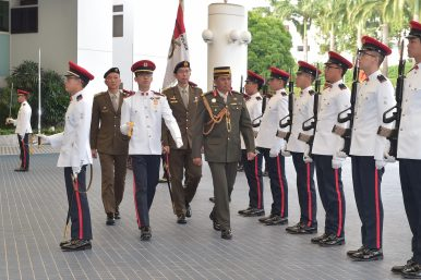 New Brunei Army Commander Makes Singapore Visit