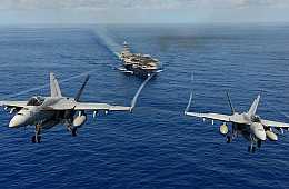 Boeing Aims for Indian Navy's 57 New Carrier-based Multirole Fighters Contract