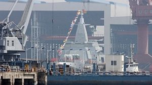 China Launches Second Type 055 Guided-Missile Destroyer