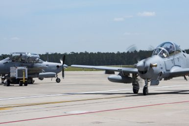 Afghan Air Force Takes Delivery of 2 A-29 Light Attack Aircraft