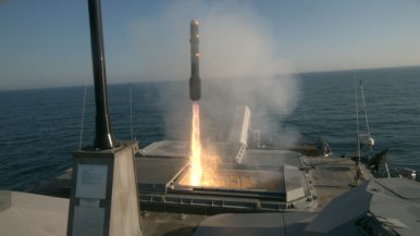 US Navy Littoral Combat Ship Fires Missiles