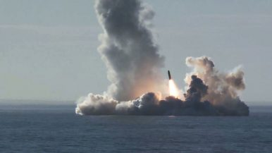 Russia's  Borei-Class Test Fires 4 Submarine-Launched Ballistic Missiles