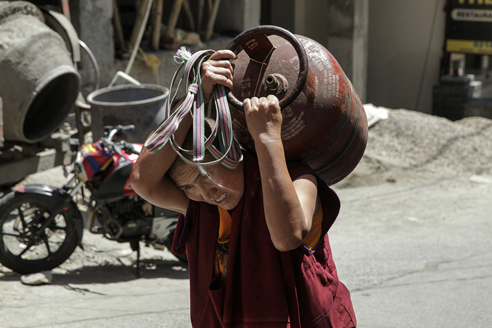 On the Streets of the Dalai Lama's Town