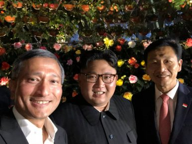 Kim Jong-un's Night Out in Singapore: A Selfie and a Skyline