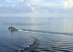 2 US Navy Warships Transit Taiwan Strait