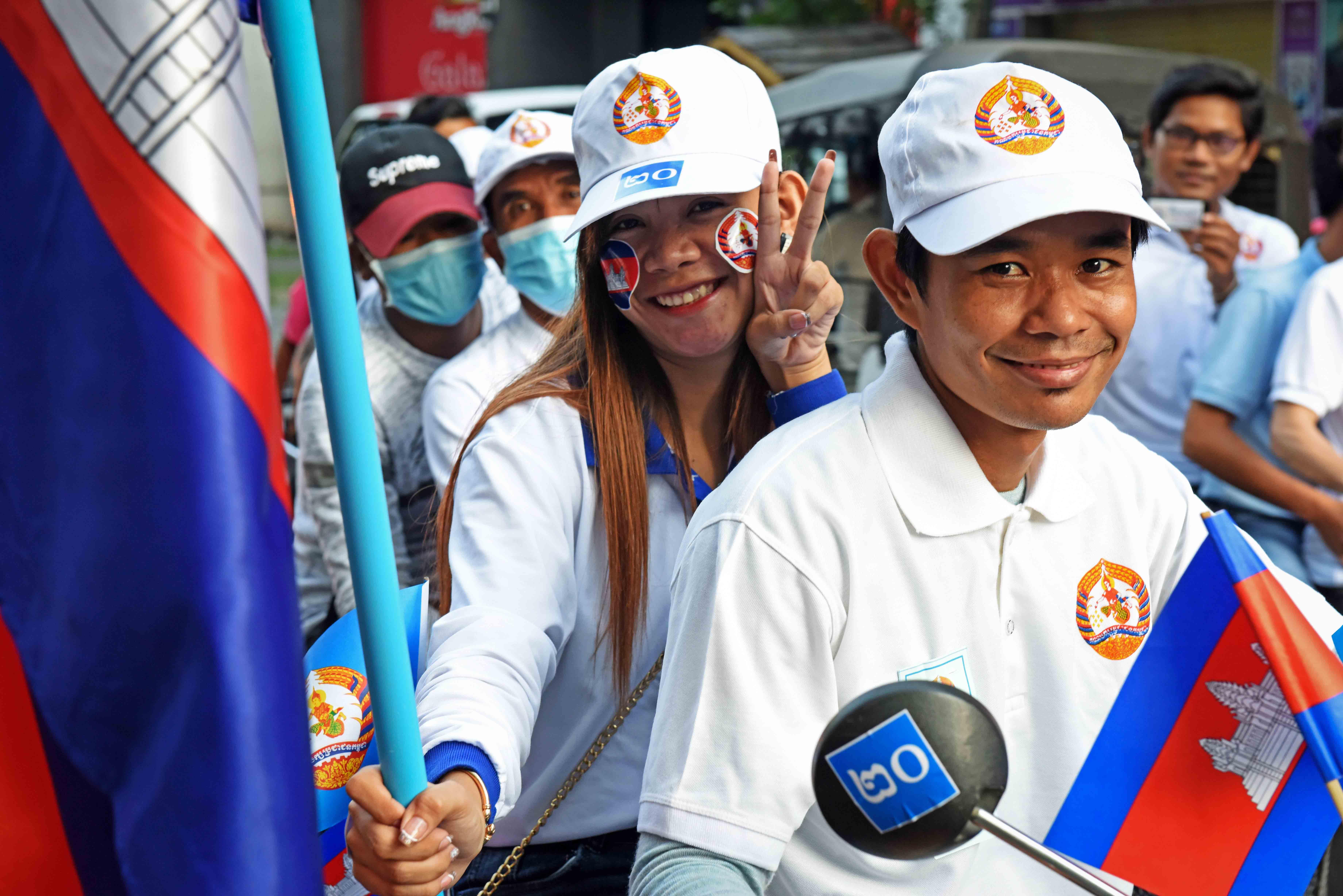 Cheering Cambodia's Strongman