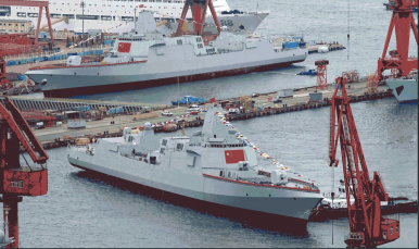China Launches 2 Type 055 Destroyers Simultaneously