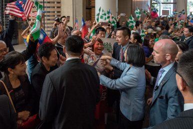 Tsai Ing-wen Made a Rare, High-Profile Stopover in the US