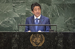 At UN, Japan's Abe Defends the Rules-Based Order