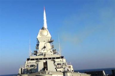 India Test Fires Long-Range Surface-to-Air Missile From Destroyer