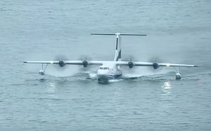 China-Built World's Largest Amphibious Aircraft Conducts First Water Takeoff and Landing