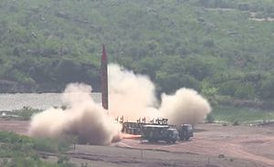 Pakistan Conducts Test of Ghauri Medium-Range Ballistic Missile