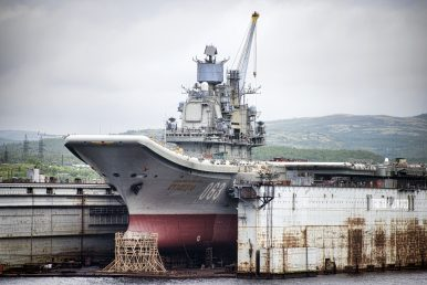 Russia Admits That It Can't Retrofit Aircraft Carrier After Accident