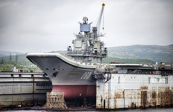 Russia's Sole Aircraft Carrier to Remain Docked in 2020