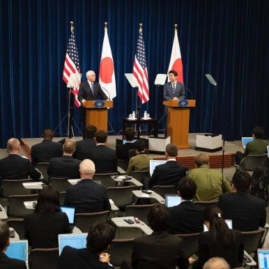 From Japan, US VP Denounces 'Authoritarianism and Aggression'
