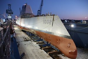 US Launches Third Zumwalt-Class Guided Missile Destroyer