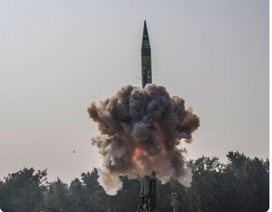 India Test Fires Agni-V Nuclear-Capable ICBM