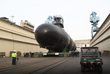 US Shipbuilder Launches New Virginia-Class Nuclear-Powered Attack Submarine