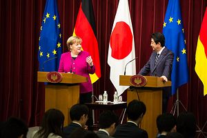 Brexit on the Brain as Germany's Chancellor Comes to Japan