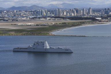 US Navy's New Stealth Destroyer Embarks on 'First Operational Period at Sea'