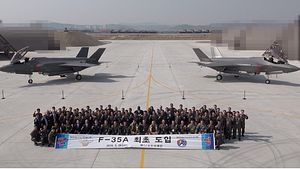 First 2 Republic of Korea Air Force F-35A Stealth Fighters Arrive in South Korea