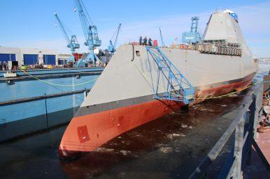 US Navy Christens Third Zumwalt-Class Guided Missile Destroyer