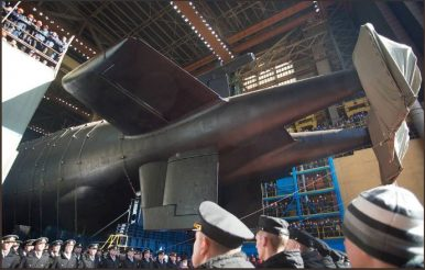 Russia Launches Project 09852 Special Purpose Submarine